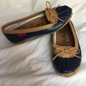 Chooka Duck Skimmer Waterproof Navy Flats